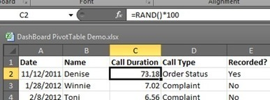 Generate Data Using Excel: RAND & RANDBETWEEN - Chicago | DataScopic | Data Management, Data Quality | Scoop.it