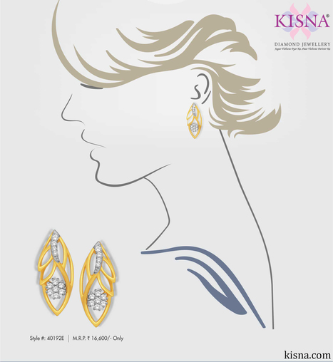 Chic And Sophisticated, Flaunt This Intricate Work With your Office and Party Wear!   Gold Diamond Jewellery Designs   Scoop.it