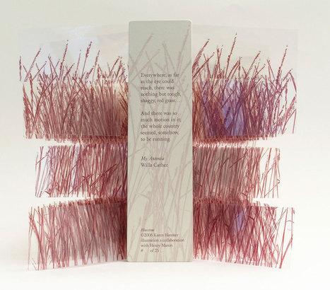 Bookmarking Book Art - Karen Hanmer   Books On Books   Scoop.it
