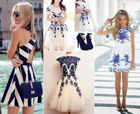 10 Super Stylish White and Blue Dresses   Stylish Board   Scoop.it