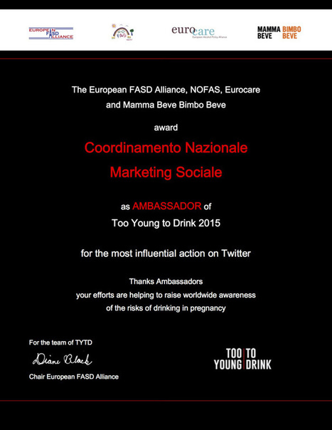 "Gli ""AMBASSADOR"" per la campagna Too Young To Drink 2015 