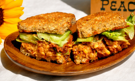 Vegan Sandwich - Sun-Dried Tomato & Chickpea Sandwich   Mincir Autrement   Scoop.it