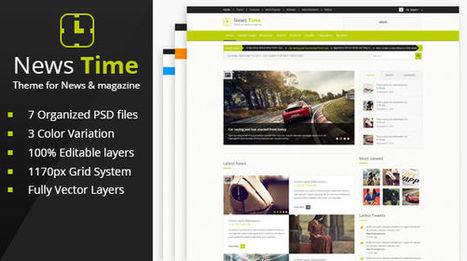 News Time Magazine Theme PSD - Mojo Themes | Theme PSD | Scoop.it