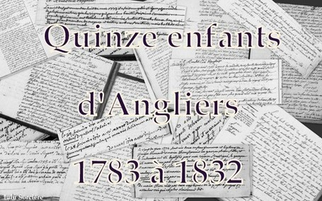 Lulu Sorcière Archive: Quinze enfants d'Angliers (86) - 1783 à 1832. | Rhit Genealogie | Scoop.it