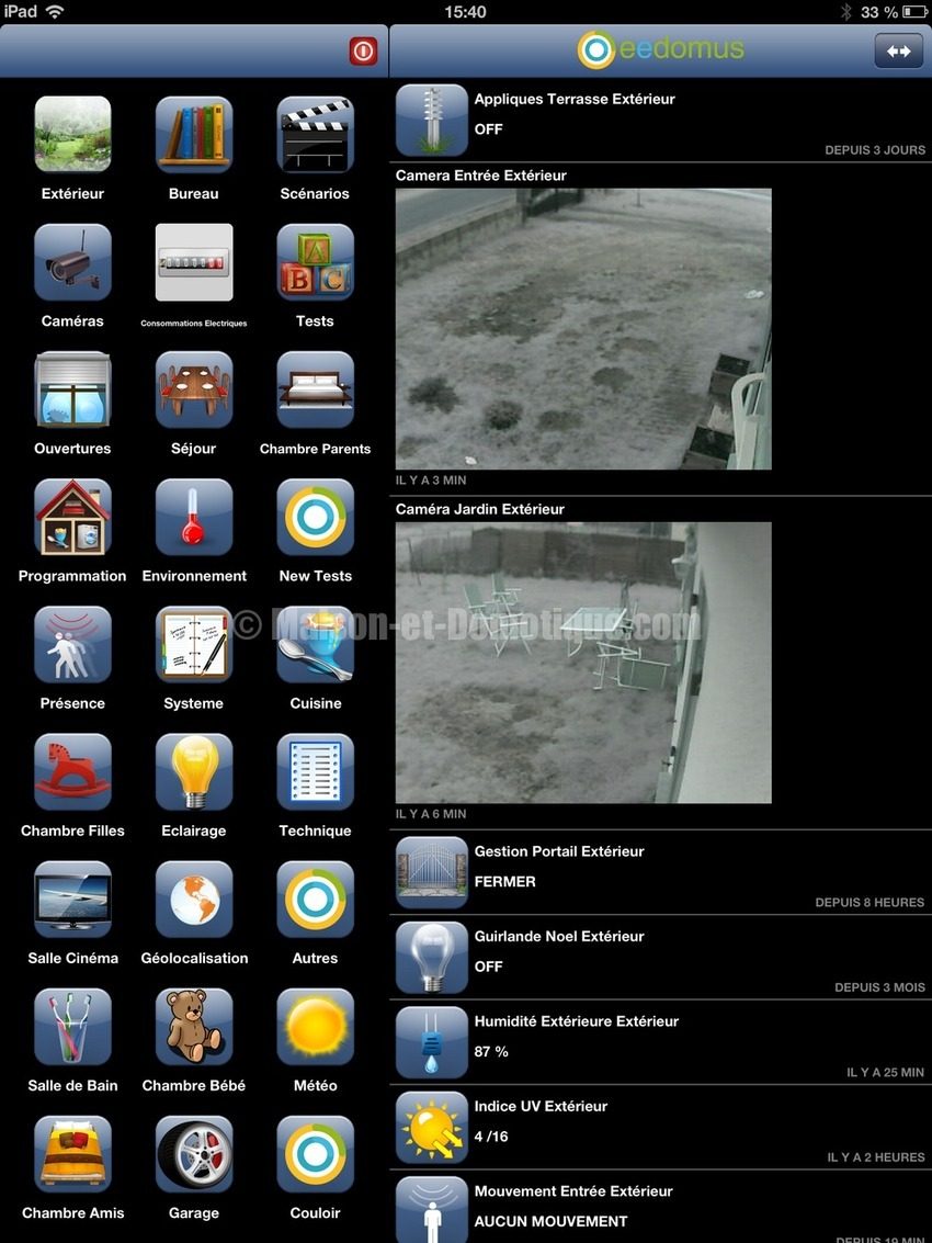 Eedomus: application iPad disponible !