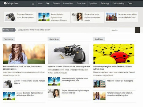 MAGAZINE | Blogger themes | Scoop.it