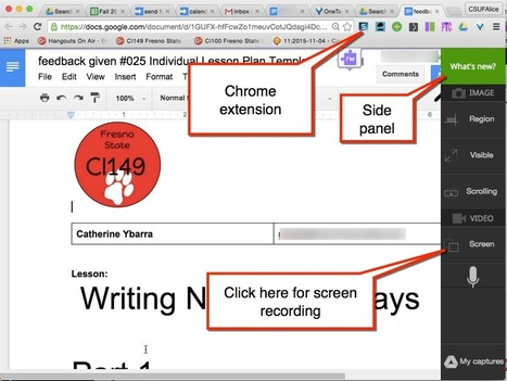 Google Docs: Use Snagit to Leave Audio/Visual Feedback | Using Google Drive in the classroom | Scoop.it