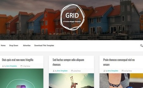 Blogger Templates For Profesional Bloggers: Grid responsive minimalistic Blogger theme | Blogger themes | Scoop.it