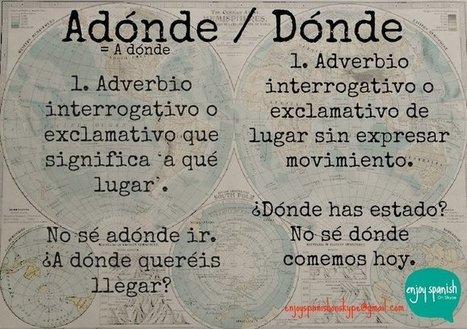 Adónde / Dónde | Español para los más pequeños | Scoop.it