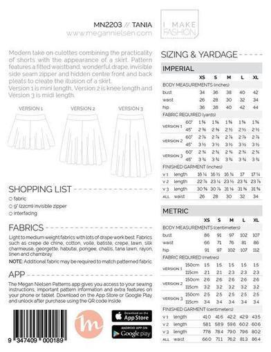 Tania Culottes sewing pattern | Cadeaux Réjane | Scoop.it