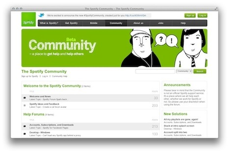 Spotify launches a Community site. Is it pulling away from GetSatisfaction? | Music business | Scoop.it