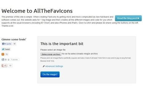 AllTheFavIcons te ayuda a crear tu propio favicon | Tic en la educacion | Scoop.it