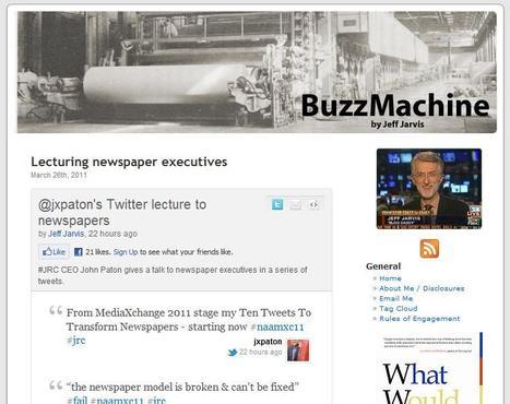BuzzMachine | Top sites for journalists | Scoop.it