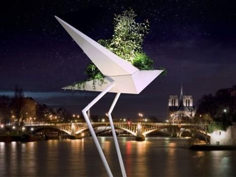 Design et Art végétal : Un albatros géant en plein coeur de Paris | Nature en Ville | Scoop.it