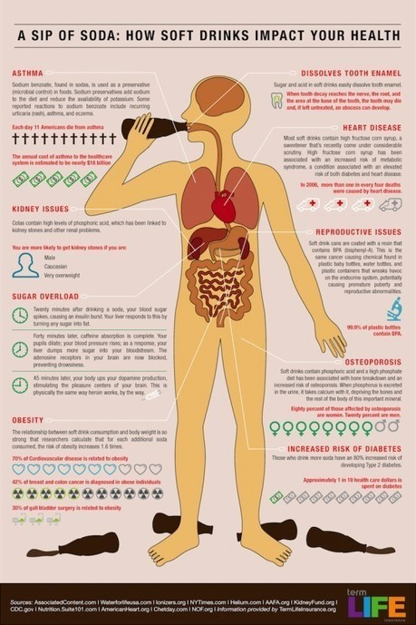 How Soda Affects Each Body Part As You Drink [INFOGRAPHIC] | LibertyE Global Renaissance | Scoop.it