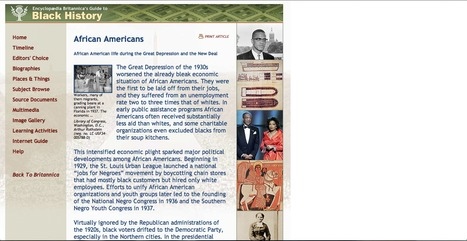 Historical Website #1 | African Americans during the 1930s | Scoop.it