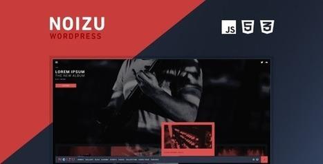 Noizu Wp - Full Screen Music Theme (Music and Bands) | Creative Wordpress Theme | Scoop.it