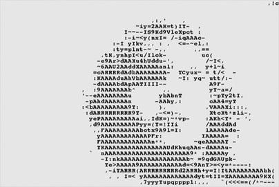Beck, Black Tambourine, Music Video - Grand Media Initiative | ASCII Art | Scoop.it