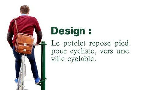 Le potelet repose pied pour cycliste, vers une ville cyclable | Mobilier urbain | Scoop.it