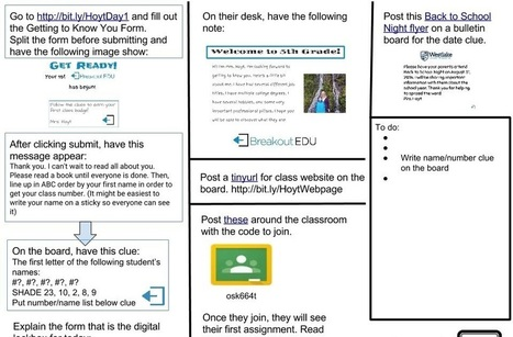 Thoughts on Education: BreakoutEDU on the 1st Day of School? Why Not!! | 21st Century School Libraries | Scoop.it