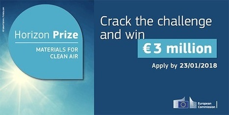 Materials for clean air H2020 prize | EU FUNDING OPPORTUNITIES  AND PROJECT MANAGEMENT TIPS | Scoop.it