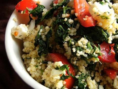 Spinach and Bulgar Salad Recipe from Cooklime | All About Health & Beauty | Scoop.it