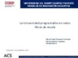 La universidad programable en redes libres de e...