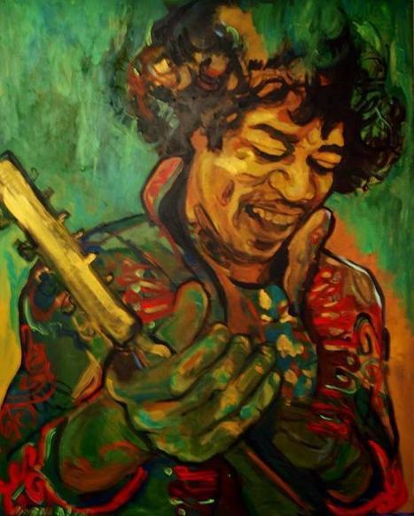 Músicos en la pintura: Hendrix, Miles Davis, Bob Marley, Camarón...Trazados con acorde | Comunicación cultural | Scoop.it