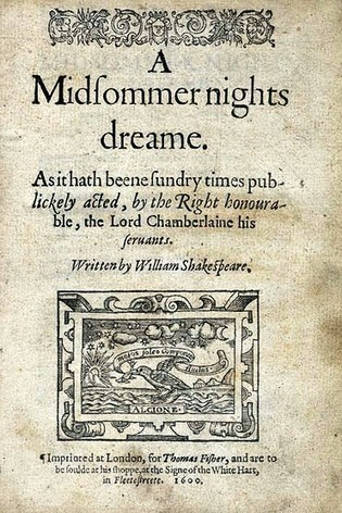 Image: Title Page of Early Copy of A Midsummer Nights Dream. | Allison's A Midsummer Night's Dream | Scoop.it