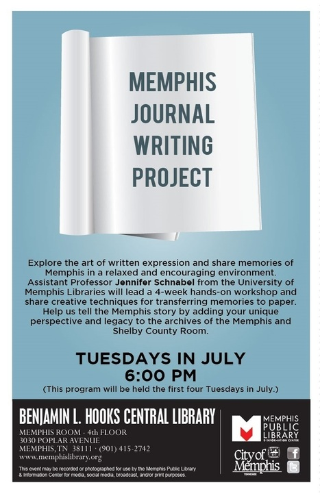 Memphis Library offers 4 week workshop in journal writing | Libraries in Demand | Scoop.it