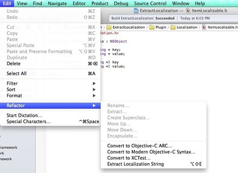 viniciusmo/extract-localizable-string-plugin-xcode | iPhone and iPad Development | Scoop.it