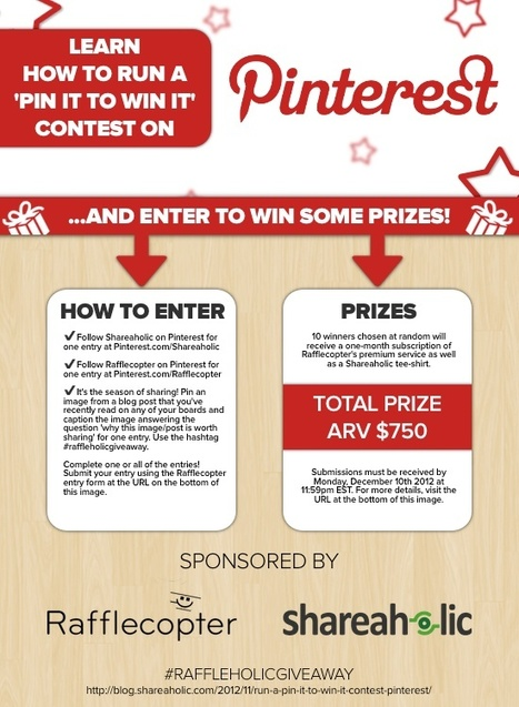 Pinterest Giveaways, Contests, Fun Games! | Social Media Giveaway Marketing | Scoop.it