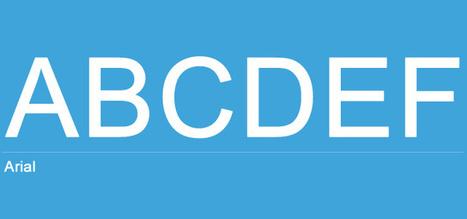 Diferencias entre tipografías Sans Serif y Serif | Diseño y Recursos Web | Scoop.it
