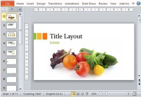 Food Presentation Template for PowerPoint | Free Office Templates | Scoop.it