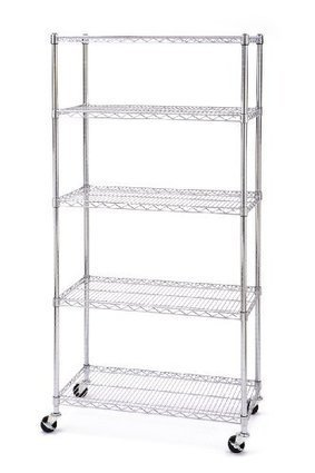 Seville Classics SHE18370B 18-Inch by 36-Inch by 72-Inch Shelving System, Chrome at Low Prices | Manual Stackers | Scoop.it