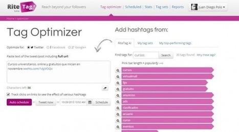 RiteTag nos ayuda a optimizar las etiquetas (hashtags) de nuestros tweets | Herramientas TIC para el aula | Scoop.it