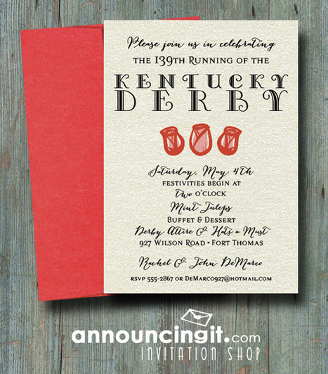 Shimmery Rose Trio Kentucky Derby Party Invitations | Party Invitations | Scoop.it