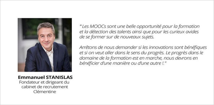 L'adéquation possible entre MOOC et RH... une interview Emmanuel Stanislas, cabinet de recrutement Clémentine | MOOC Francophone | Scoop.it