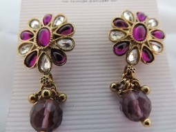 Stud Purple Earring & Butterfly Earring for the price of one | Interesting box | Scoop.it
