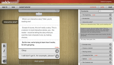 inklewriter - for collaborative writing | Tools for Teachers & Learners | Scoop.it