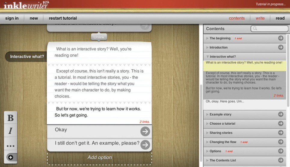 inklewriter - for collaborative writing | About writing | Scoop.it