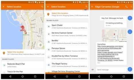 Google Messenger 1.4 introduit le partage de stickers et de localisation - LesMobiles.com | Applications Iphone, Ipad, Android et avec un zeste de news | Scoop.it