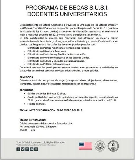PERÚ:  Education USA - Programa de Becas para docentes  universitarios | RedDOLAC | Scoop.it