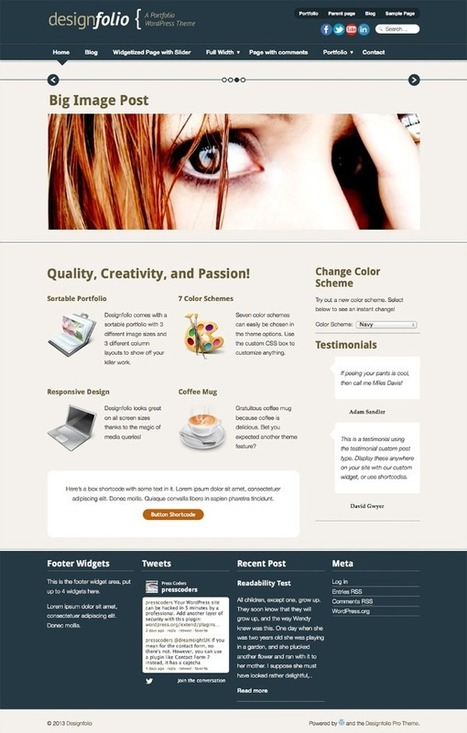 2013's Best Responsive WordPress Themes to Download | Resources | Scoop.it