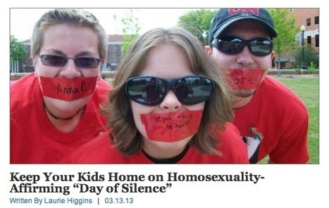 Christian Group Wants Parents to Call Their Kids Out of School on 'Day of Silence' | Religion and Politics | Scoop.it