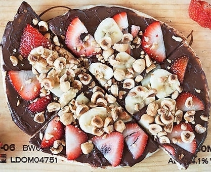 """Nutella"" Pizza (It's Vegan and Dairy free) 