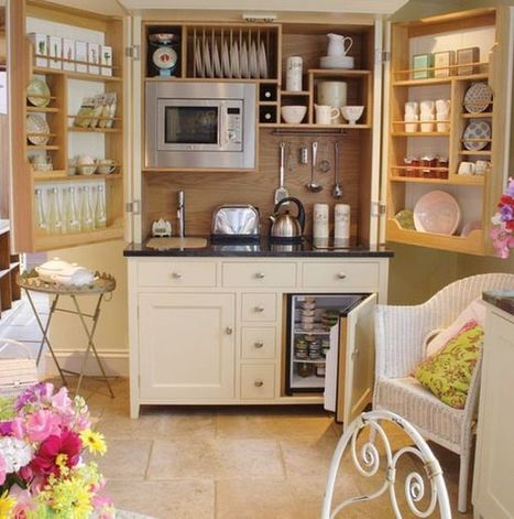 Small but charming and beautifully-organized kitchenettes | Designing Interiors | Scoop.it