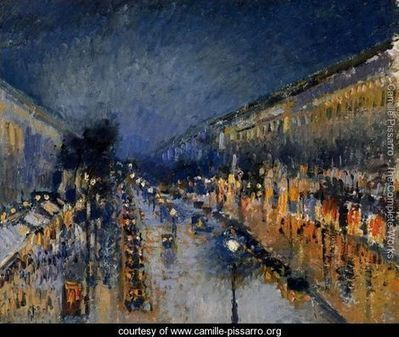 Boulevard Montmartre; Night Effect - Camille Pissarro - www.camille-pissarro.org | Systems of Knowledge | Scoop.it