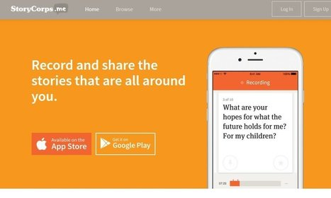 Boy Oh Boy, Christmas Has Come Early For Teachers With The New StoryCorps Mobile App! - @LarryFerlazzo | literacy: digital, information, visual, trans., etc. | Scoop.it