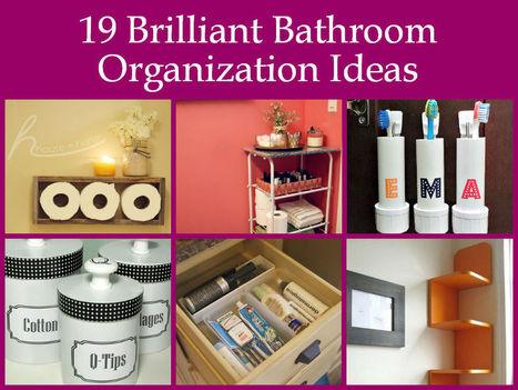 19 Brilliant Bathroom Organization Ideas | Interior Design Hot Topics | Scoop.it